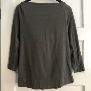 JAMES PEARSE boat neck long sleeve top w/ hood